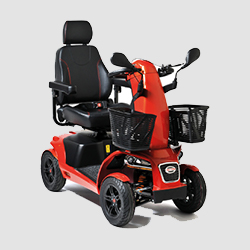 Freerider Scooter Mobility Aid in red