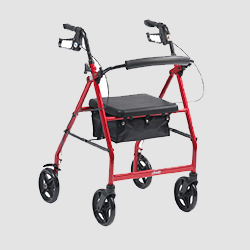 Walking mobility aid in red